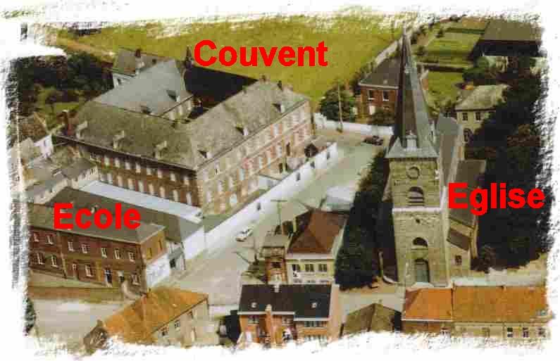 Vue aérienne du couvent de Tertre