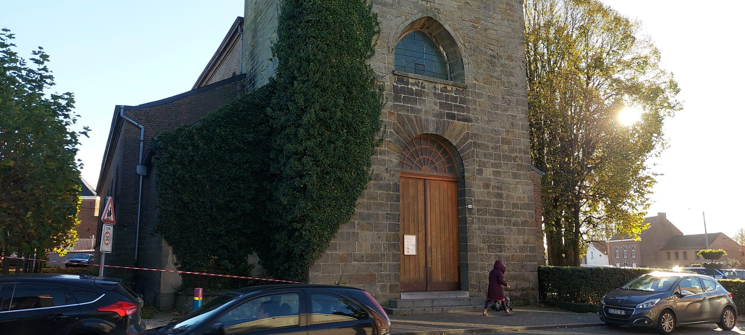 église hautrage centre facade