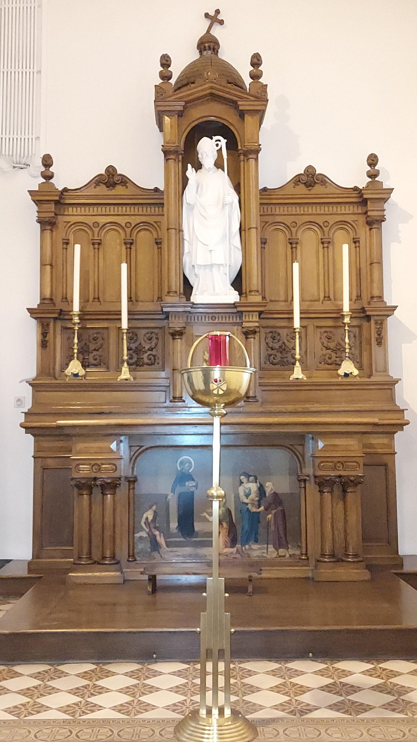 Hautrage-Centre - statue de saint Sulpice