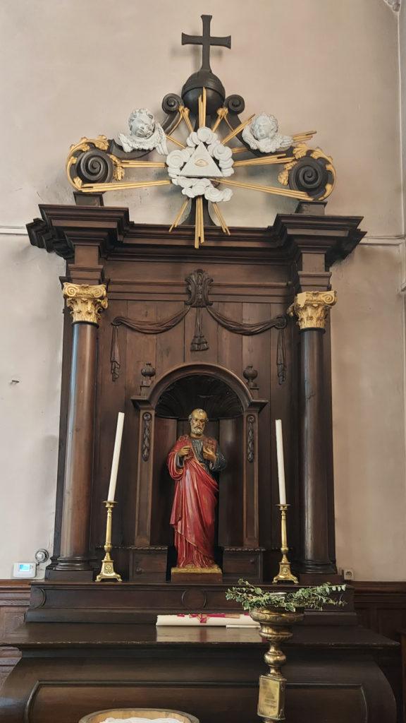 Villerot - statue de saint Pierre
